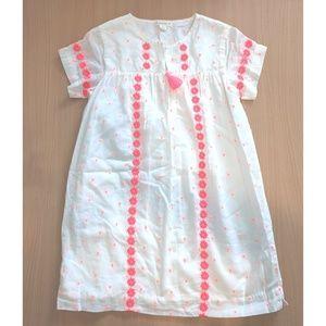 White & electric melon dress